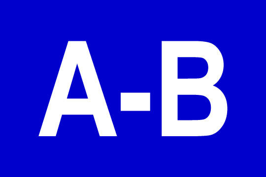 a through b