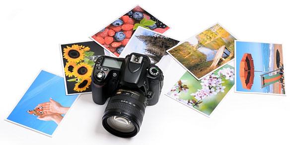 digital camera and photos