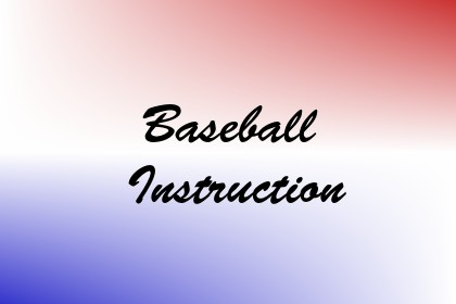 Baseball Instruction Image
