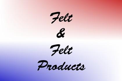 Felt & Felt Products Image