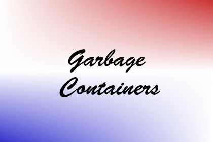 Garbage Containers Image