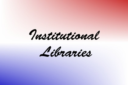 Institutional Libraries Image