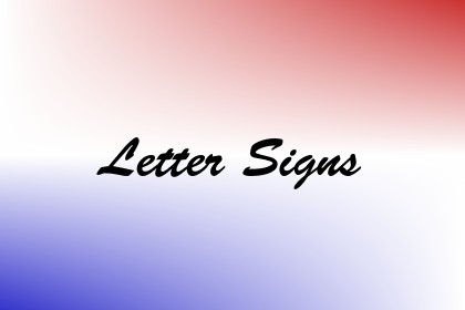 Letter Signs Image