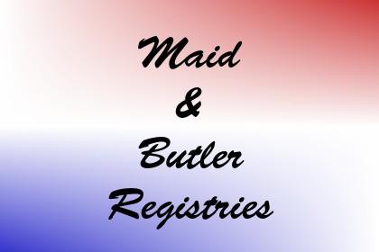 Maid & Butler Registries Image