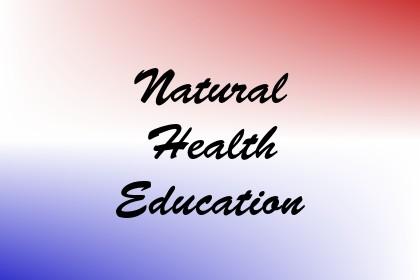 Natural Health Education Image