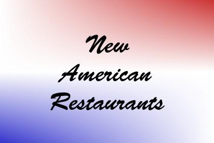 New American Restaurants Image