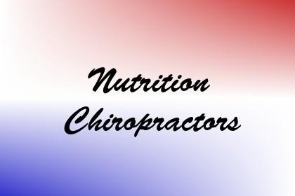 Nutrition Chiropractors Image