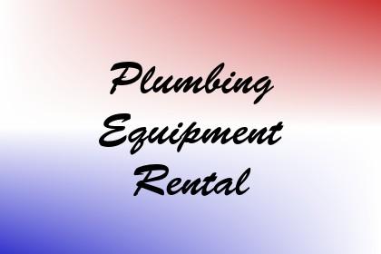 Plumbing Equipment Rental Image