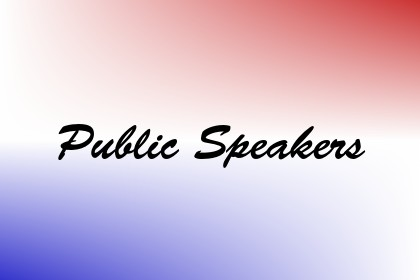 Public Speakers Image