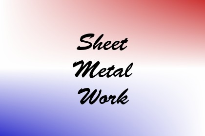 Sheet Metal Work Image