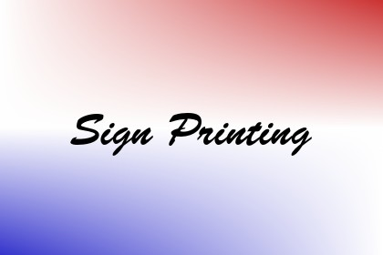 Sign Printing Image