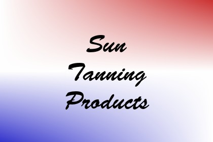 Sun Tanning Products Image