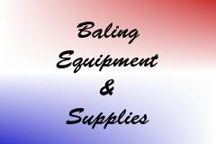 Baling Equipment & Supplies