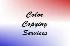 Color Copying Services
