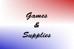 Games & Supplies