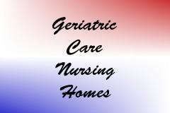 Geriatric Care Nursing Homes