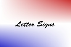 Letter Signs