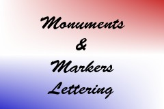 Monuments & Markers Lettering