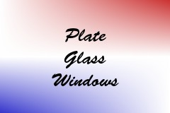 Plate Glass Windows