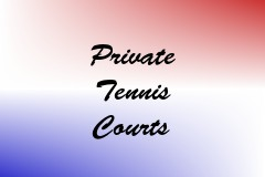 Private Tennis Courts