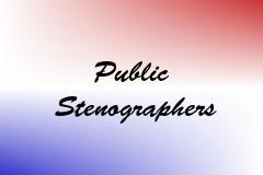 Public Stenographers