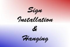 Sign Installation & Hanging
