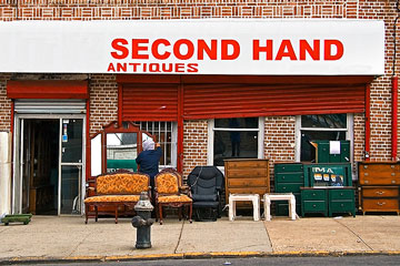 a thrift shop selling second-hand items and antiques