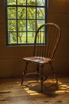 an antique windsor chair